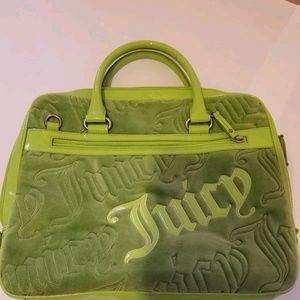 Juicy Couture Velour Green Laptop Messenger Bag
